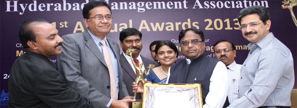 Hyderabad Management Association - Manager of the Year, for 2013